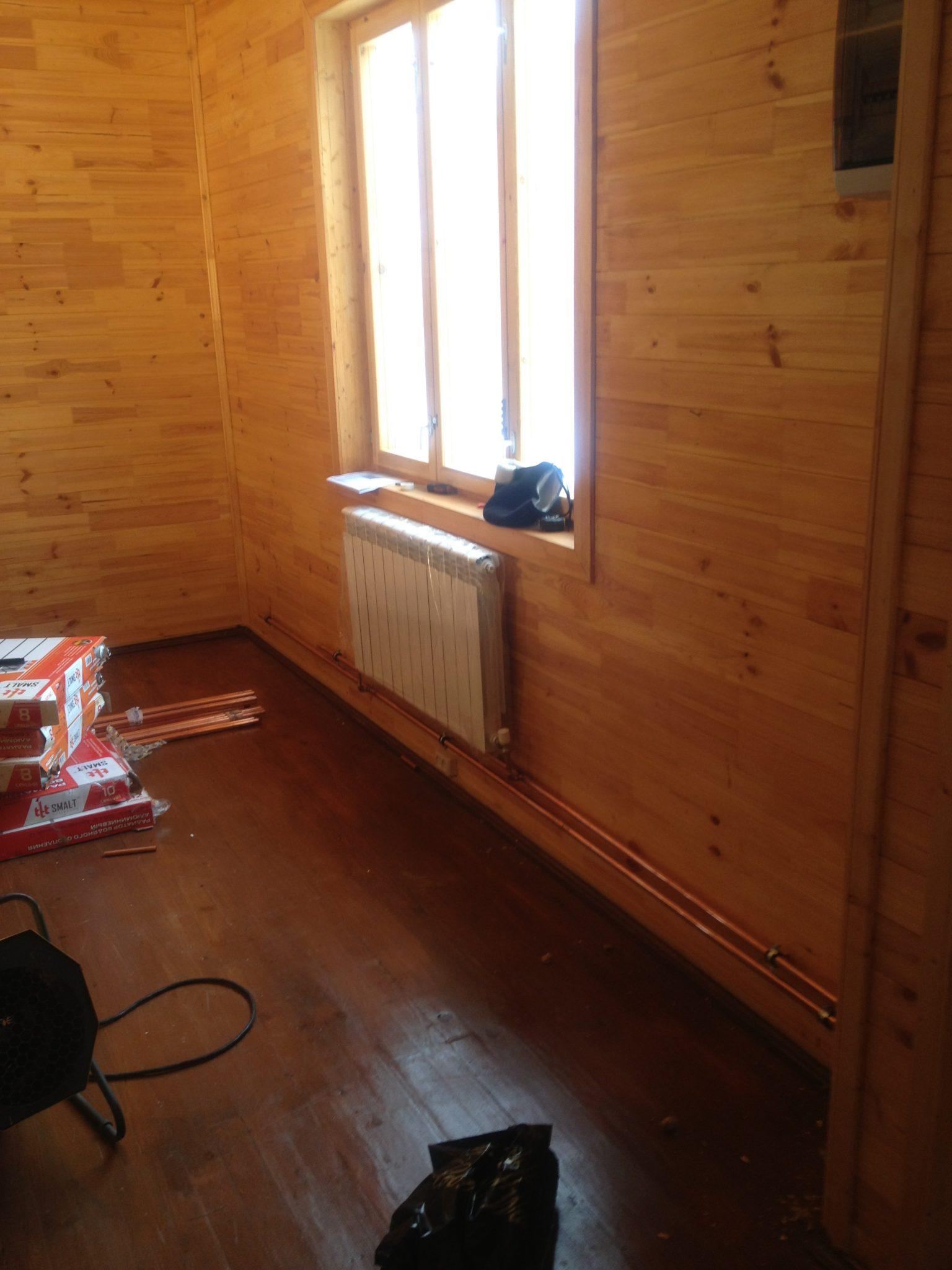 Монтаж радиаторов отопления в деревянном доме